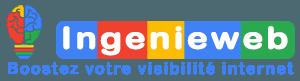 Logo Ingenieweb avec Baseline création et référencement internet