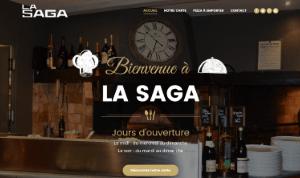 Maquette site responsive restaurant pizzeria la Saga Carqueiranne