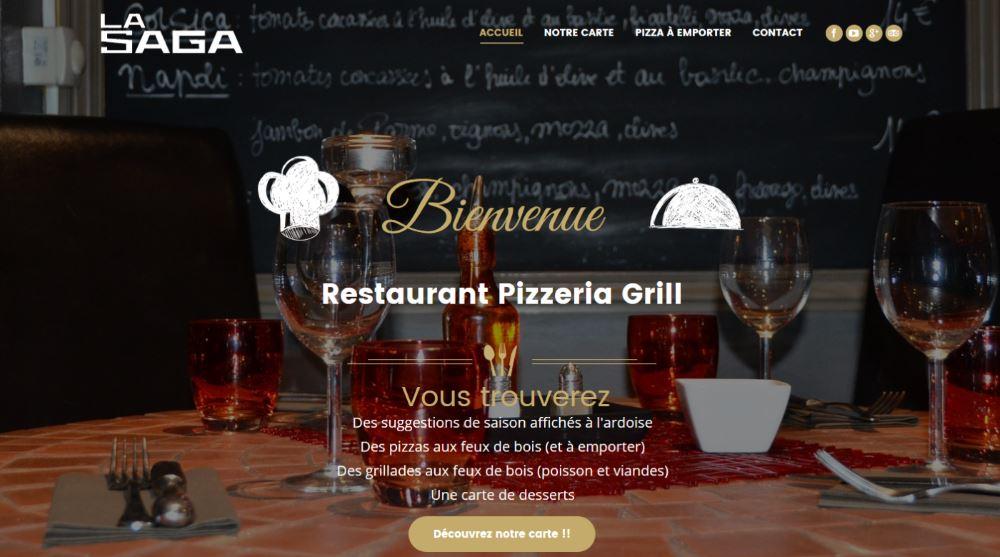 nouveau site internet restaurant la saga grill pizzeria