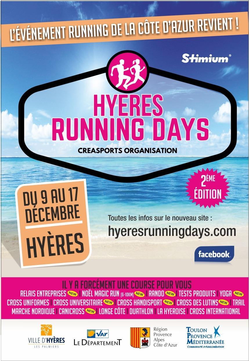 Flyer Hyères running days partenaire digital Ingenieweb