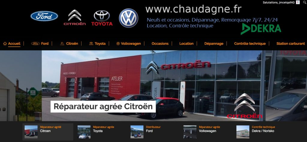 creation site internet vitrine groupe chaudagne automobiles ussel